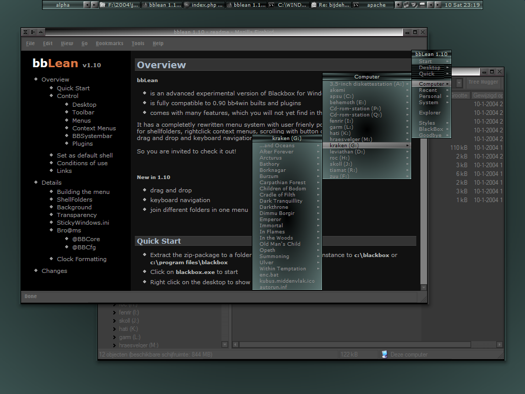 bbLean (x64bit) screenshot
